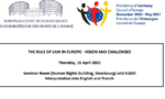 The rule of law in Europe – vision and challenges – konferencja